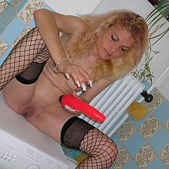 Masturbating-Toys lady.