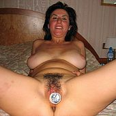 MILF with great flaps indeed can't live without her toys gallery.